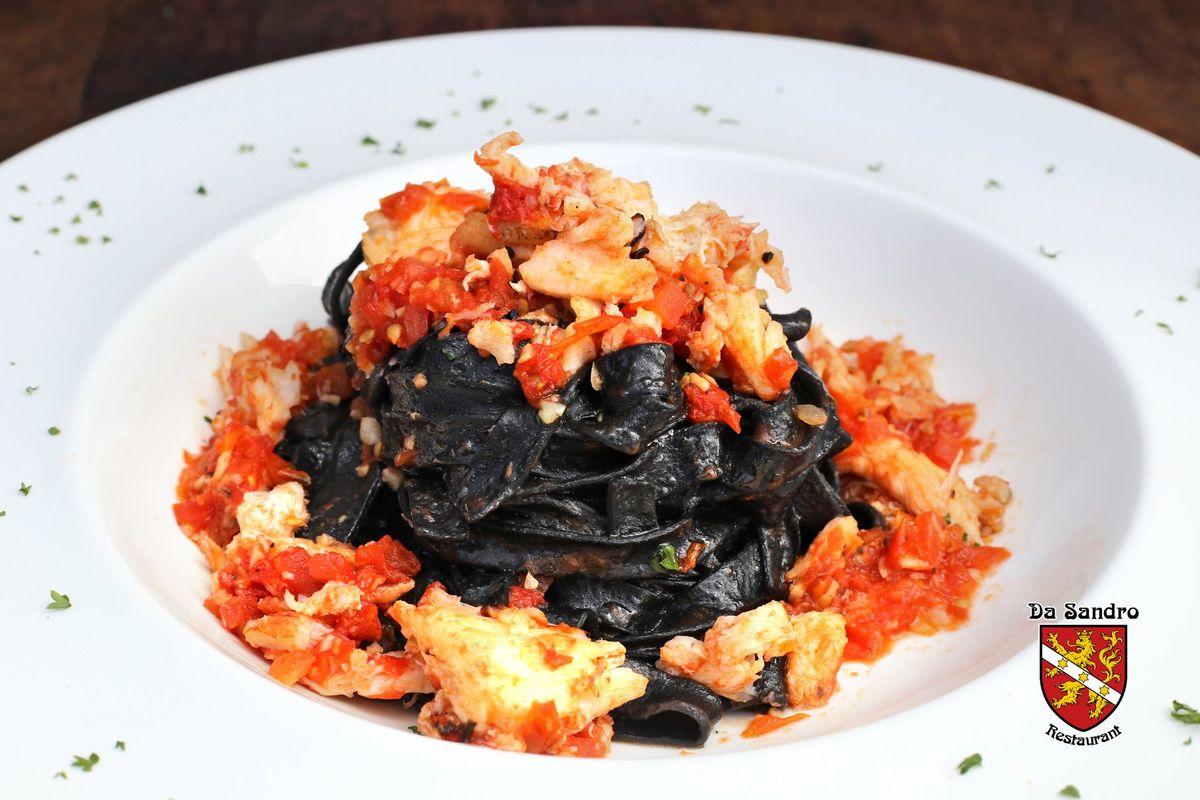 Da Sandro Restaurant - Black Tagliatelle Crab Meat